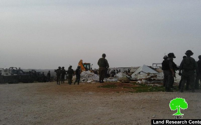 Israeli Occupation Forces demolish six residences in Um Al-Kheir hamlet