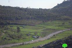 """مستعمرو """"  بيت أريه"""" يعتدون على نبعة مياه عين الزرقاء في قرية دير غسانة ويحاولون السيطرة عليها / محافظة رام الله"""