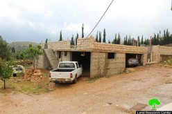 Stop-work order on a residence in the Hebron town of Sair