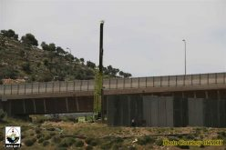 Ongoing construction of the Israeli Segregation Wall in Bir Onah neighborhood in Beit Jala town