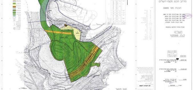 קידום תוכנית ישראלית להפיכת שטח ירוק לשכונת התנחלות חדשה באל-קודס