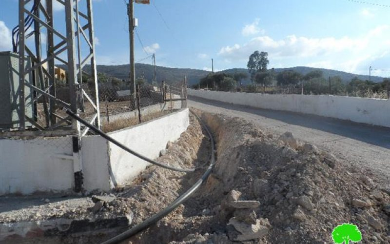 إخطار بوقف البناء للخط المائي الناقل الذي يغذي قرية العقبة وخربة ابزيق شمال شرق طوباس