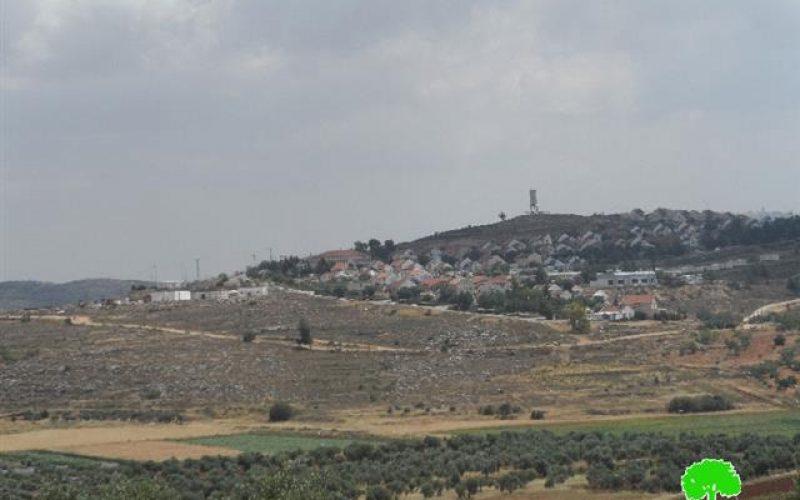 """أعمال توسعة تشهدها مستعمرة """" شفوت راحيل"""" على أراض قرية جالود"""