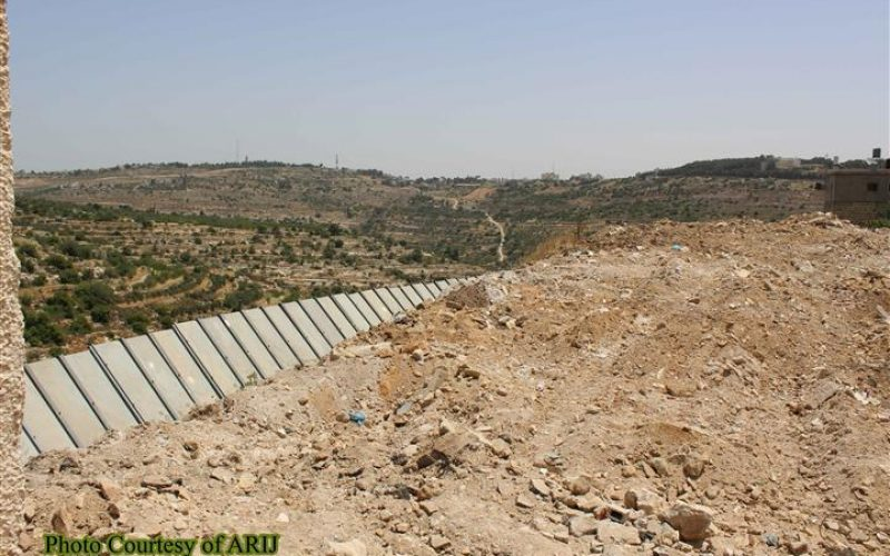 """""""For Security Purposes"""" The Israeli Bulldozers razed about 2 dunums of Lands in Al-Khader town northwest of Bethlehem Governorate"""
