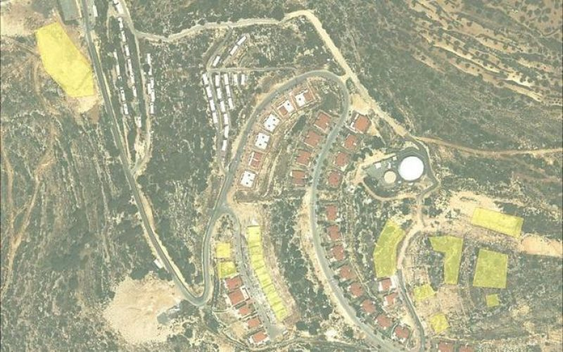 Announcement of changing land status from Agricultural to construction in Talmon Settlement
