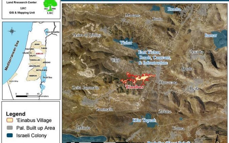 Aggressions on Palestinians, their Properties and their Lands in Einabus village