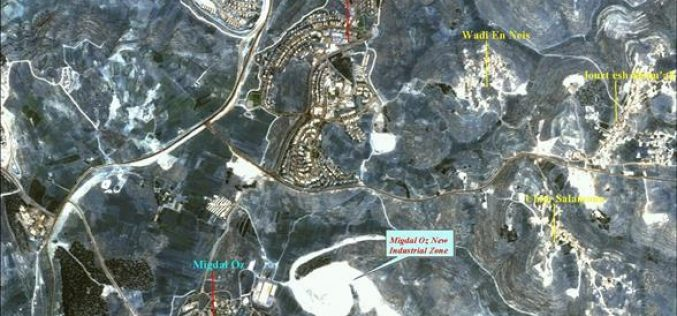 A New Industrial Zone to be established Near the Vicinity of Beit Ummar Village