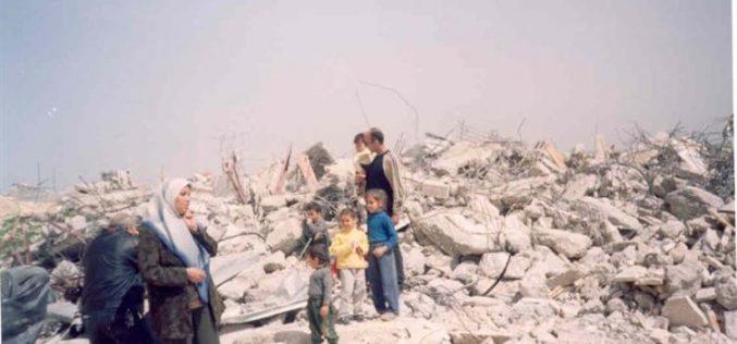 Israeli house demolition campagin continued unabated