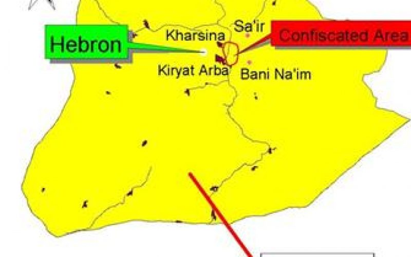 The Confiscation of 3,000 Dunums for the Expansion of Kiryat Arba' and Kharsina Colonies in Hebron Governorate