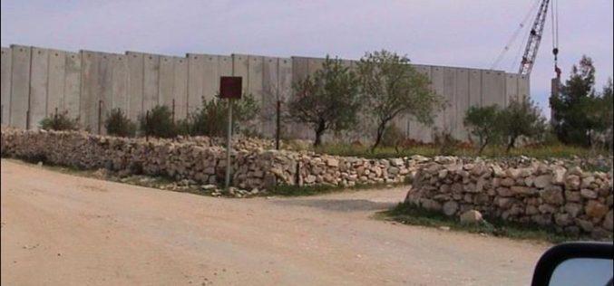 Installation of Wall blocks at Bethlehem Northern entrance