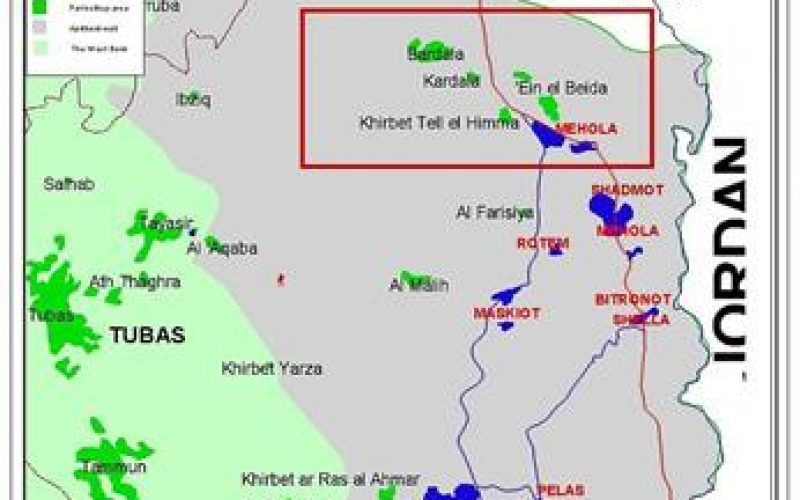 Construction of Separation Wall is under way <br> Devastation of agricultural lands in the villages of Bardallah and Ein Al Baida-Tubas district