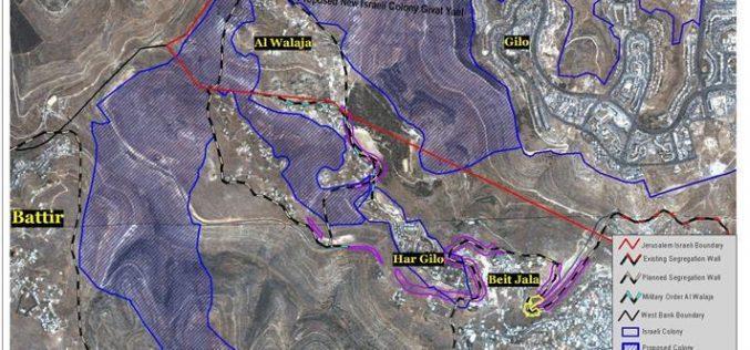 "Plans for a new Israeli ""South Jerusalem""  Grabbing Palestinian lands from Al Walaja, Battir, and Beit Jala"