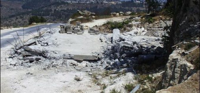 The Caterpillar Bulldozers in Motion Israel Demolishes Two Palestinian Houses in Al-Walaja Village