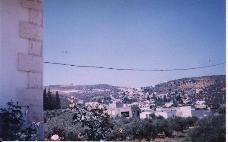 The remaining lands of Attayba village threatened by the Segregation Wall constructions