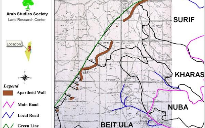 Land confiscation orders for the purpose of Wall construction in Hebron governorate