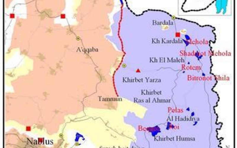 Israel Isolates the Northeastern Sector of the West Bank