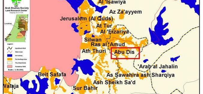 A state of House arrest and the construction of a new settlement prevails in Abu Dis town