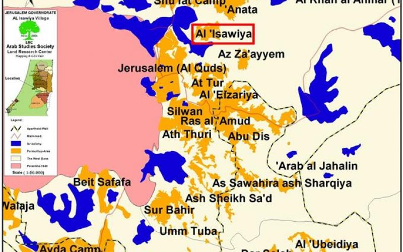 The new Jerusalem Master Plan grabs 250 dunums of 'Issawiya village lands