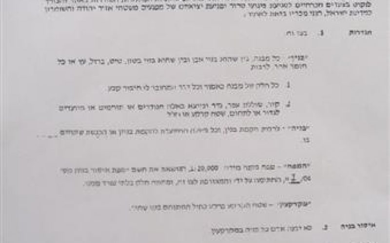 Recent Israeli violations in Tulkarem district