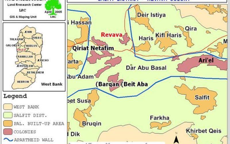The enlargement of Revava settlement over lands seized from Deir Istiya village !!!
