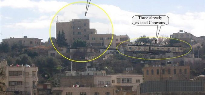 Israeli settlers inaugurate a multi-storey residential building in Tel Rumaida.