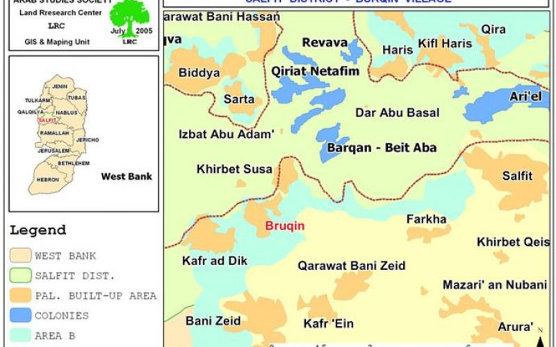 Bruqin's people and nature are hit by pollution coming from neighboring Israeli Settlements