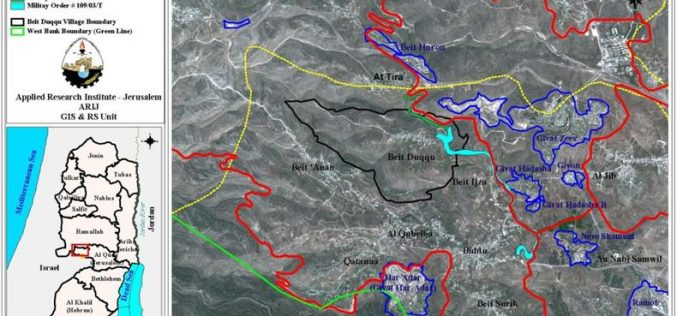 Beit Duqqu village lands are threatened by the Segregation Wall