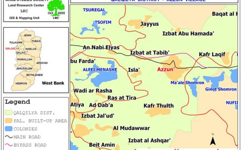 Israeli dumping site amidst Palestinian residential areas