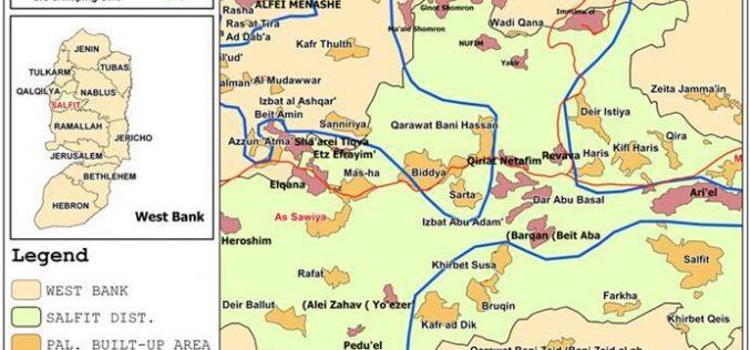 Az Zawiya village lands under unlawful confiscation attack by the Israeli Occupation