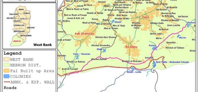 """Hebron's lands seized by road """"security"""" fence !"""