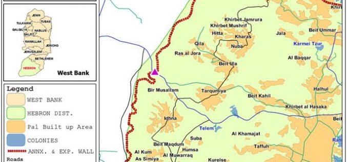 Tarqumiya Terminal crossing is under construction deep inside West Bank territory