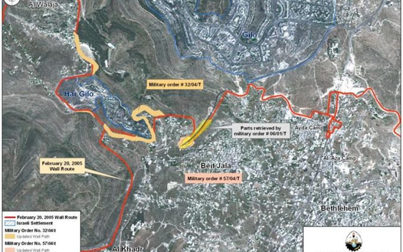 Israel remodels wall sections in Beit Jala City