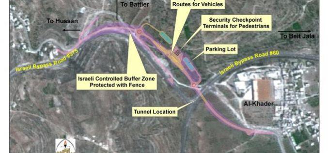 A Restraining Order to halt Constructions at Al Khader Crossing Point !