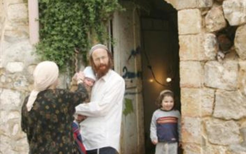 Israeli settlers occupy a residential building in the Old City of Hebron