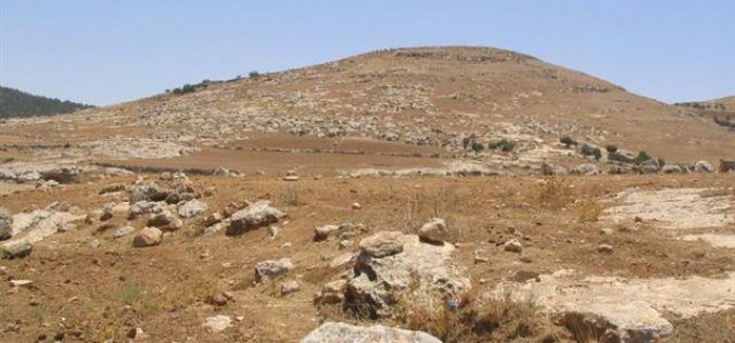 25 dunums seized from Khirbet Atuwani for the construction of a military camp