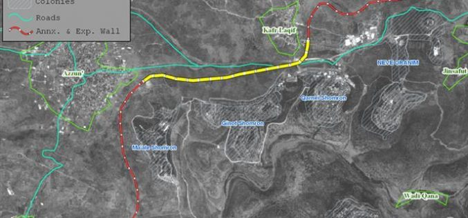 Resumption of Wall construction in the biggest finger-like corridor in the West Bank