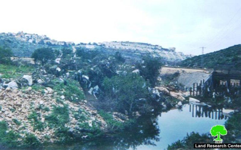 Wadi Qana polluted by Israeli settlements