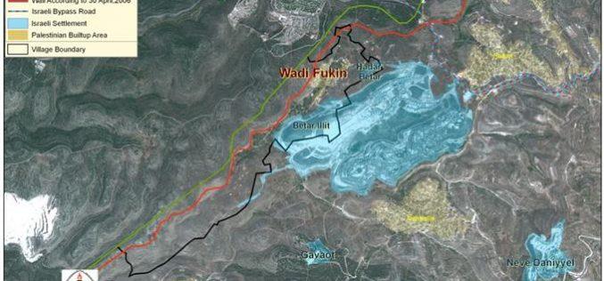 "Wadi Fukin Village West of Bethlehem, ""Trampling Onto a Dark Future"""