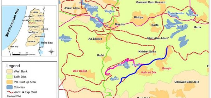 More of Bruqin's and Kafr Ad dik's land are targeted by the Segregation Wall