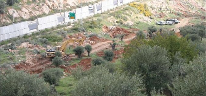 Wall Constructions recommence in Beit Jala City