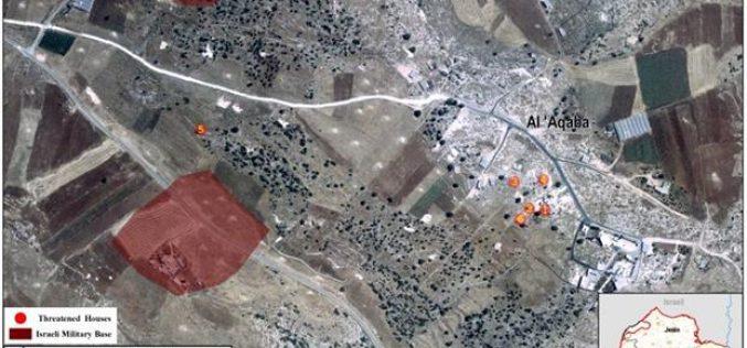 New House Demolition Warnings in Al-Aqaba Village