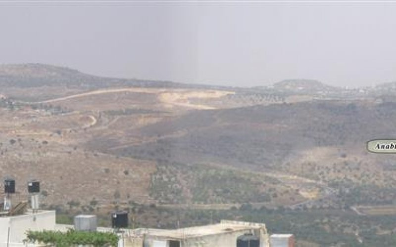 Israeli settlers set fire to agricultural lands in Ramin village