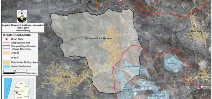 New House Demolitions Threats in Qarawat Bani Hassan village