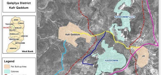 New military road under construction in Kafr Qadum village