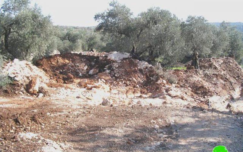 Closing of all the local agricultural roads in Deir Al Ghusun town