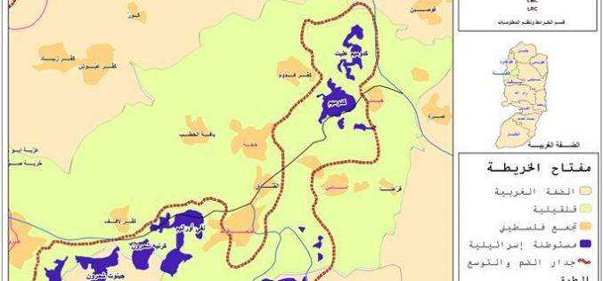 سلطات الاحتلال تواصل حملتها في إنذار وهدم المنازل والمنشآت في قرى شرق محافظة قلقيلية