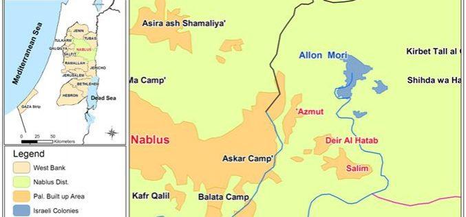 Elon Moreh Settlers Contaminate Drinking Water in Deir Al Hatab Village