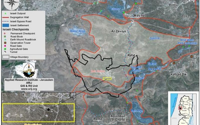 New Military Orders to Halt Construction of Seven Palestinian Houses in the Village of Deir Ballut