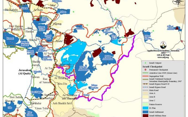 """"""" الطريق رقم 45 """", الرؤية الإسرائيلية للدولة الفلسطينية المتواصلة جغرافيا !!!"""