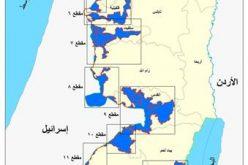 14 مقطع يكون جدار العزل الإسرائيلي <br> يعزل 64 تجمع فلسطيني يقطنها أكثر من 107 ألف فلسطيني و يضم 107 مستوطنة إسرائيلية يقطنها قرابة ال 400 ألف مستوطن اسرائيلي